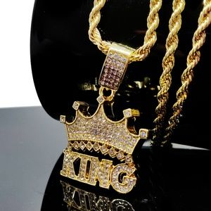 Other - King Crown Iced out Bling Hip Hop Necklace Jewelry